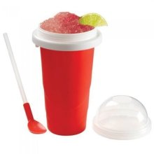 Squeeze N Freeze Red Instant Slush Maker Cup Makes Slushy in Mins