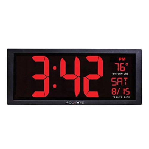 Chaney Instruments 75127A1 AcuRite Digital Wall Clock, 14.5 in.