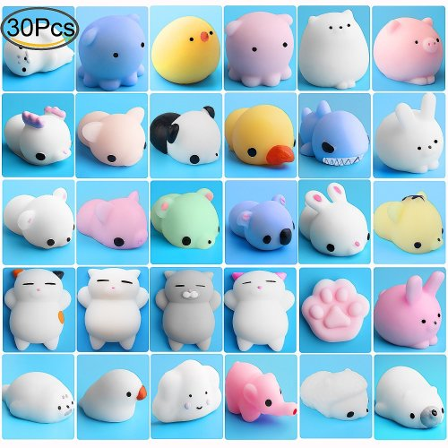 Mochi Animals Stress Toys, Outee 30 Pcs Mochi Squishy Toy