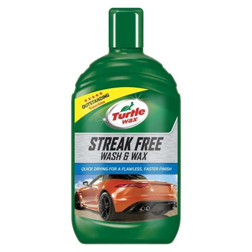 Turtle Wax Streak Free All in One Car Shampoo Wash & Car Wax 500ml