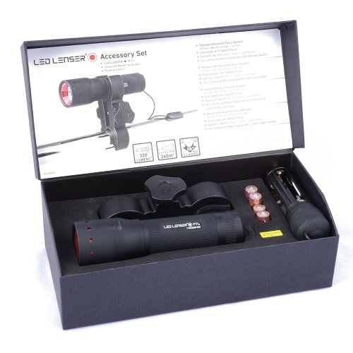 LED Lenser P7.2 with Pressure Switch + Gun Mount - 320 Lumens Professional torch