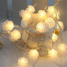 2M 20 LED Pine Cone String Lights LED