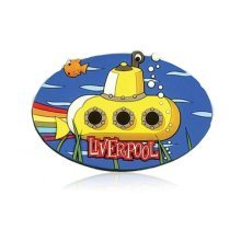 Liverpool Yellow Submarine Fridge Magnet Souvenir Gift Rubber Novelty Cartoon