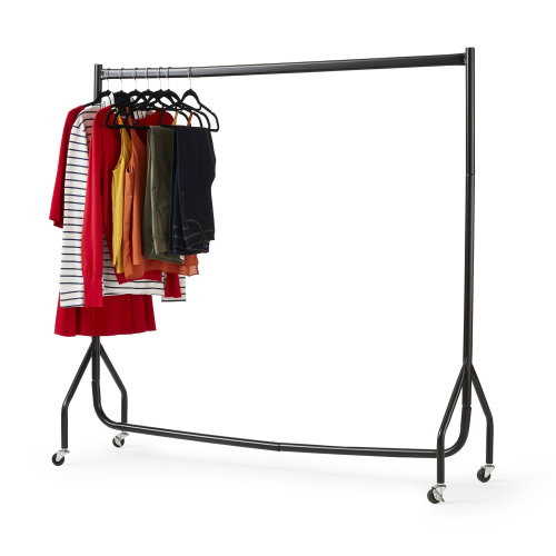 5ft x 5ft Wheeled Clothes Rail | Steel Hanging Clothes Rail