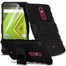 Itronixs - Samsung Galaxy J3 (2016) Rugged Heavy Duty Armour Shock Proof Hard Stand Case Cover with Lcd Screen Protector