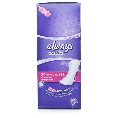 Always Dailies Fresh & Protect Long Plus 24 Pads