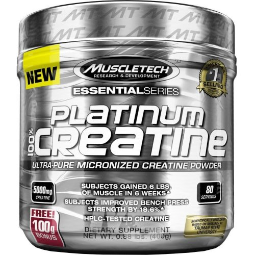 MuscleTech Platinum 100% Ultra-Pure Micronized Creatine Powder 400g