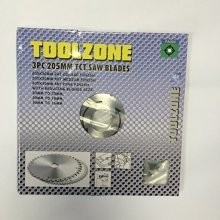 Toolzone 3 Piece 160mm Tct Saw Wood Cutting Blades With Reducing (adapters) - -  saw tct circular wood 160mm cutting 3pc