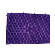 Set of 2 Foot Massager Therapy Mat Foot Massage Pad Shiatsu Sheet [Purple]