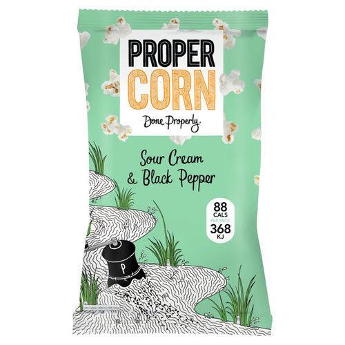 Propercorn  Propercorn - Sour Cream & Black Pepper 20g x 24