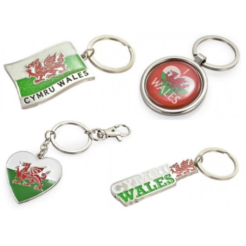Welsh Keyring Key Ring Red Dragon Flag I Love Wales Heart Souvenir Gift Cymru