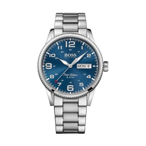 Hugo Boss 1513329 Pilot Vintage Stainless Steel Men's Quartz Watch