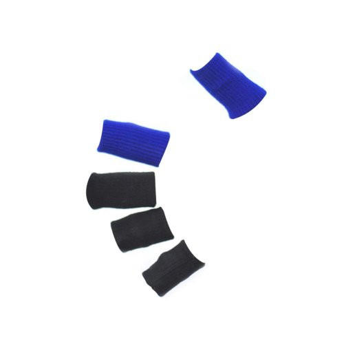 5 Pic BLACK & 5 Pic Blue Compression Basketball Fingers Sleeve, One Size
