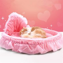 Princess Pet Bed  Pink Lace Puppy House