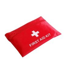 Set of 2 Useful Family Medicine Bag Necessary First Aid Case Nylon Bag Red 5.5''