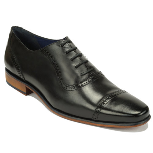 Scott Williams Men's Quincy Black Leather Shoes