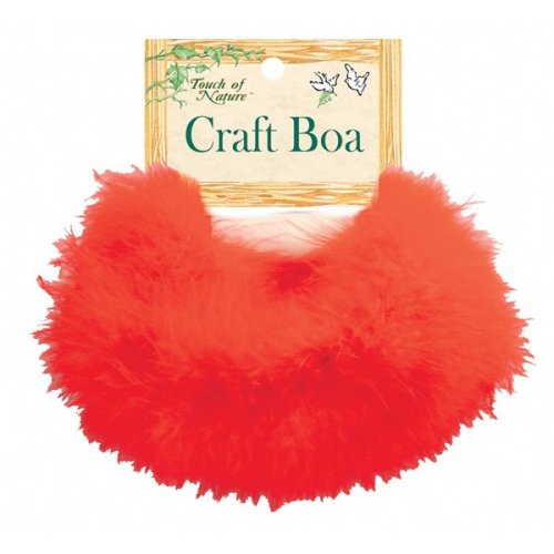 "Midwest Design Marabou Feather Boa 36""-Red"