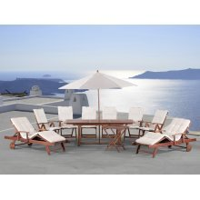Wooden Garden Furniture TOSCANA - Set with cushions and umbrella