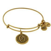 Alex and Ani Initial O Charm Bangle Bracelet - Rafaelian Gold Finish - A13EB14OG