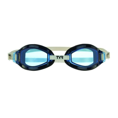 TYR Unisex's Team Sprint Fitting Basic Goggles, Blue/Black/White, Medium