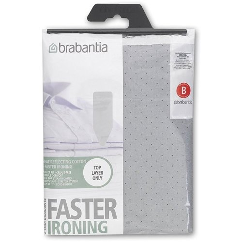 Brabantia Metalised Ironing Board Cover Size B 124cmx 38cm - Silver