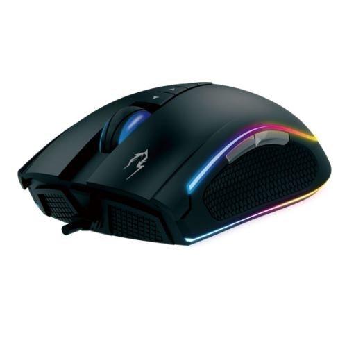 Gamdias ZEUS M1 Optical Gaming Mouse, USB, 7000 DPI, 8 Configurable Buttons, RGB Lighting, Weight Tuning, Black