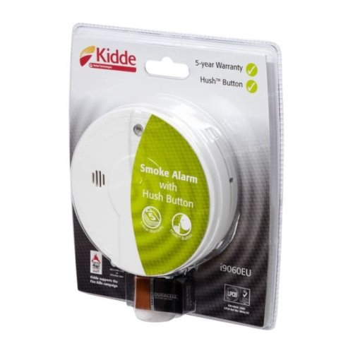 Kidde I9080UKC Smoke Alarm - Premium General Purpose with Test Light & Hush