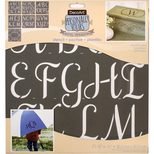 """Initial Impressions Stencil 12""""X12""""-Sophisticated"""