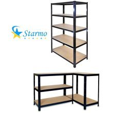 1 X Starmo Heavy Duty 5 Tier Shelving 1.8 Metre Boltless Assembly Storage Rack