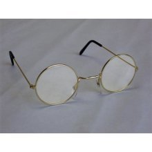 John Lennon Spectacle Glasses With Clear Lens - Fancy Dress Round Granny Hippy -  glasses fancy dress lennon round john granny hippy 60s 70s ozzy
