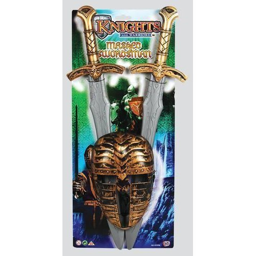 KNIGHTS AND WARRIORS SWORD & MASK PLAY SET FANCY DRESS CHILDRENS KIDS