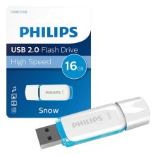 Philips 16GB Snow Series USB 2.0 Flash Drive Memory Stick