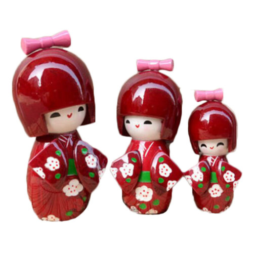 Japanese Traditional Wooden Beautiful Doll/Mini Doll/Gifts/Decoration -A8