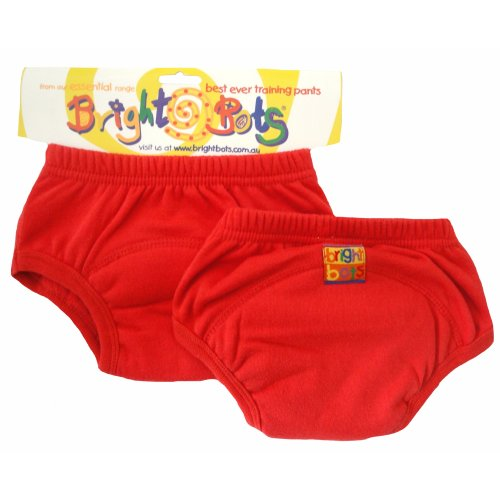 Bright Bots 2pk Washable Training Pants Red