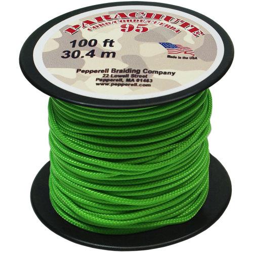 Parachute Cord 1.9mmX100'-Neon Green