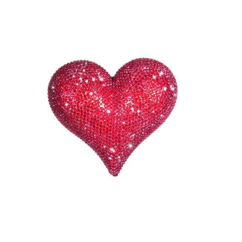 Interior Illusion Plus ii000109 7 in. Wide Rhinestone Love Heart, Red
