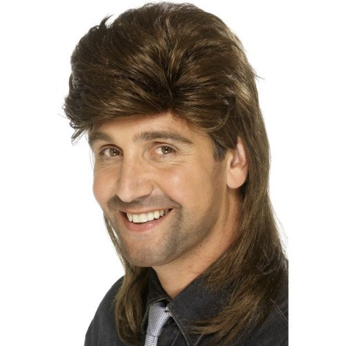 Brown Mullet Fancy Dress Wig