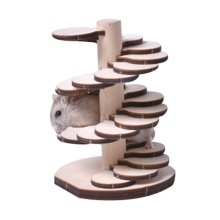 [F] Hamster Wooden Toy Hamsters DIY Habitat Pet Supplies for Small Animal