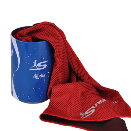 Cold Quick-drying Towel Lightweight Travel Towel Cool Sports Towels With Can, #08