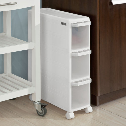 SoBuy® FRG41-K-W, 3 Drawers Plastic Storage Drawer Unit on Wheels