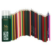 Brightly Set of 36 Oily Colored Pencils, Assorted Colors