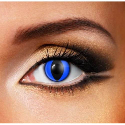 Blue Cat Contact Lenses (Pair) -Halloween Contact Lenses