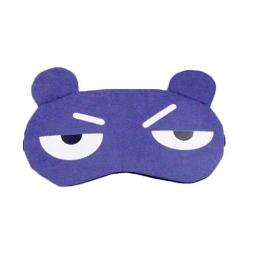 Funny Blue Expression Eye Sleep Mask for Travelers