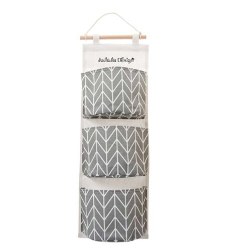 Over the Door Storage Pockets Wall Bags Storage Bag with 3 Pockets