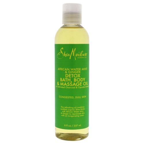 African Water Mint & Ginger Detox Bath-Body & Massage Oil by Shea Moisture for Unisex - 8 oz Oil