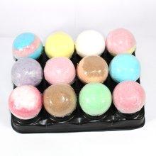 Bath Bomb Bee Free mix - 12 x 65g bath bombs, mixed scent, no petals