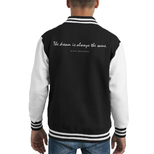 Risky Business Opening Lines Kid's Varsity Jacket