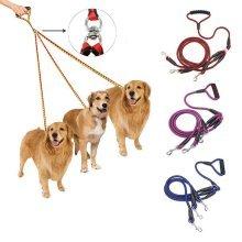 3 Way Dog Coupler Leash No-Tangle Triple Pet Leash Lead Fit For Walking Three S M L