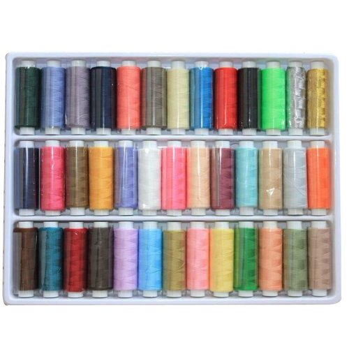 Set of 39  Assorted Spools of Polyester Sewing Thread/ Random Color