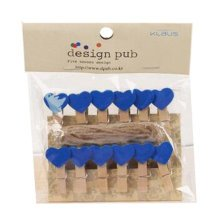 Mini Natural Wooden Clothespins Photo Paper Peg Pin Craft Clips with 2m Jute Twine, R